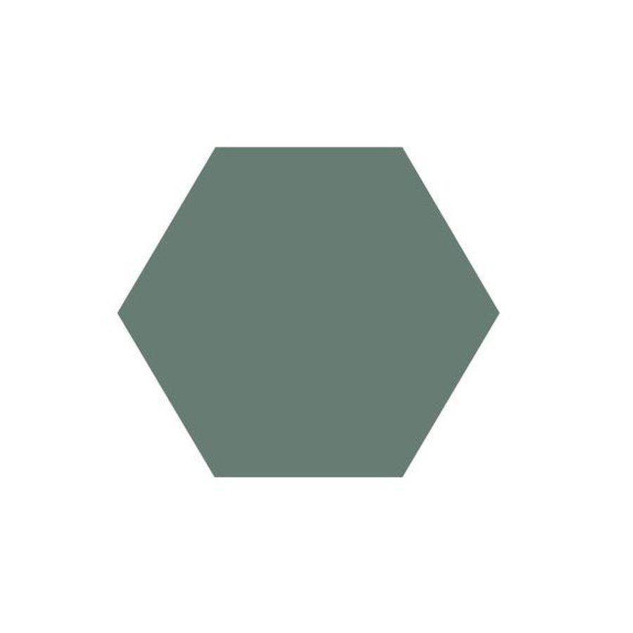 Hexagon Tegel Groen - Per 0.5M²