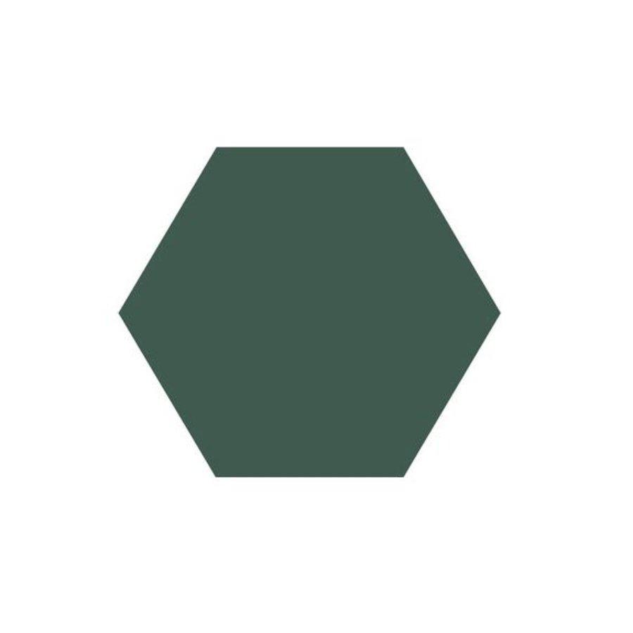 Hexagon Tegel Donkergroen - Per 0.5M²