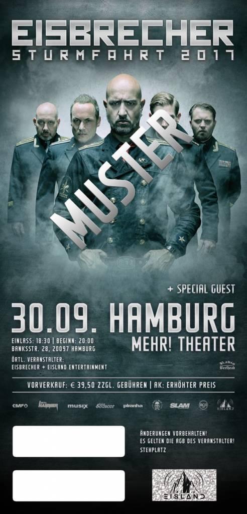 """EISBRECHER """"STURMFAHRT"""" 2017 HAMBURG"""