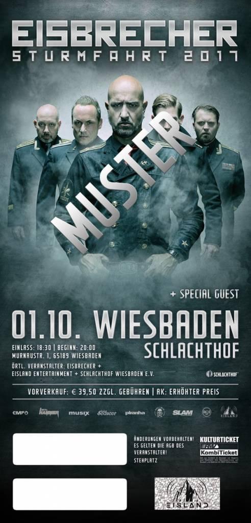 """EISBRECHER """"STURMFAHRT"""" 2017 WIESBADEN / 6-FREUNDE TICKET"""