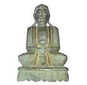Grote Boeddha houtsnijwerk + goud