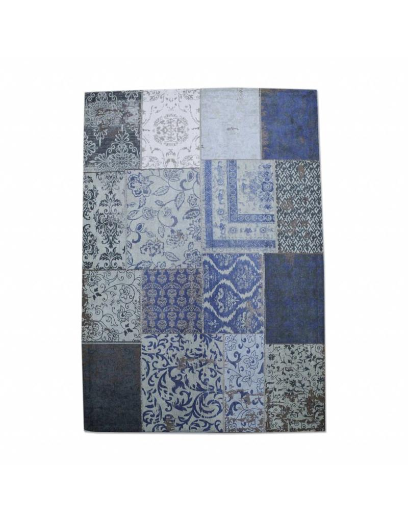Patchwork Teppich 170 X 240 Cm  Dunkelblau  My Dutch