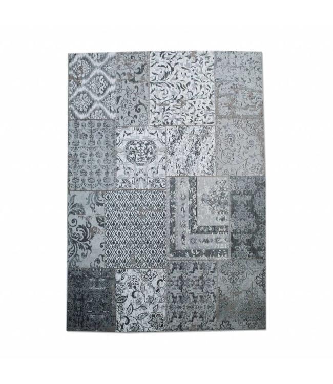 By-Boo Patchwork Teppich 170 X 240 Cm - Grau