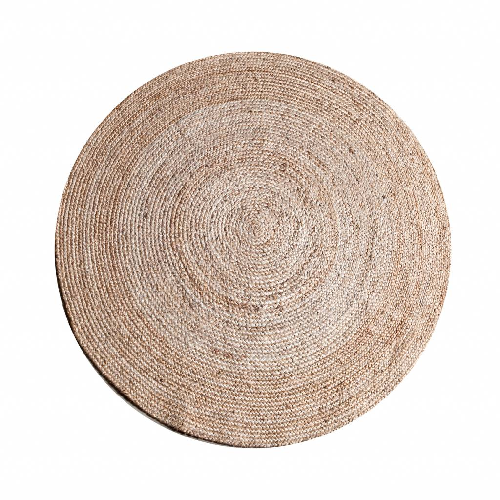 Teppich Jute Rund 120 Cm  Natural  My Dutch Living Room