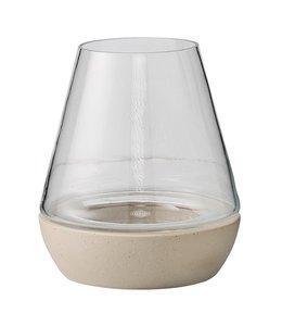 Bloomingville Lanterne Groß - Glas Mit Betonsockel