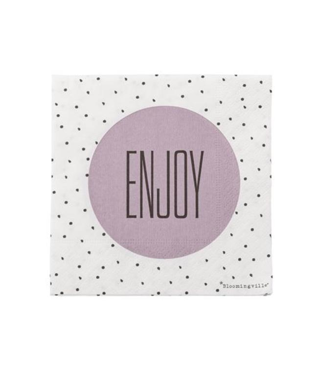 "Bloomingville Papierservietten, ""Enjoy"",  20 Stk."