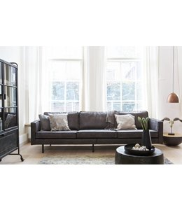 Be Pure Home Rodeo Sofa 3-Sitzer Schwarz