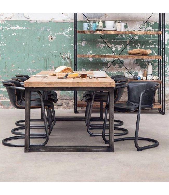 Esstisch Beine Holz ~ Esstisch mit Mango Holz und Metal Beine  My Dutch Living Room