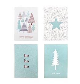 Bloomingville Weihnachtskarten 4 st.