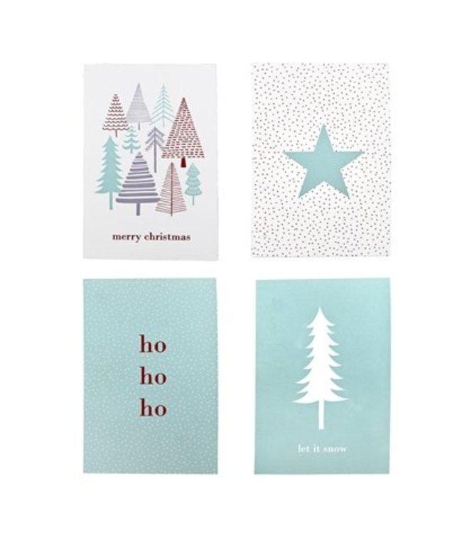 Bloomingville Bloomingville  Weihnachtskarten 4 st.