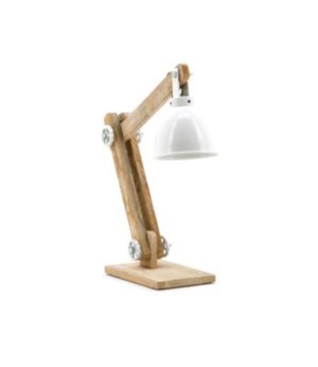 By-Boo Lampe Daviola  - Weiß mit Holz
