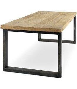 Esstisch mit Mango Holz und Metal Beine