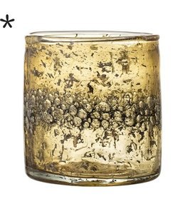 Bloomingville Teelicht Gold Glas