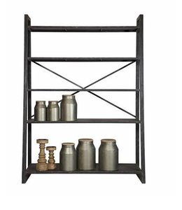 Be Pure Home Splurge Regal Metallgestell - Schwarz