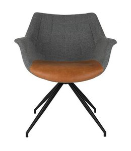 Zuiver Stuhl Doulton - Grey/Cognac