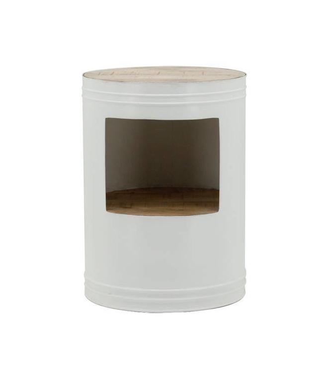 By-Boo Beistelltisch Barrel - Weiß