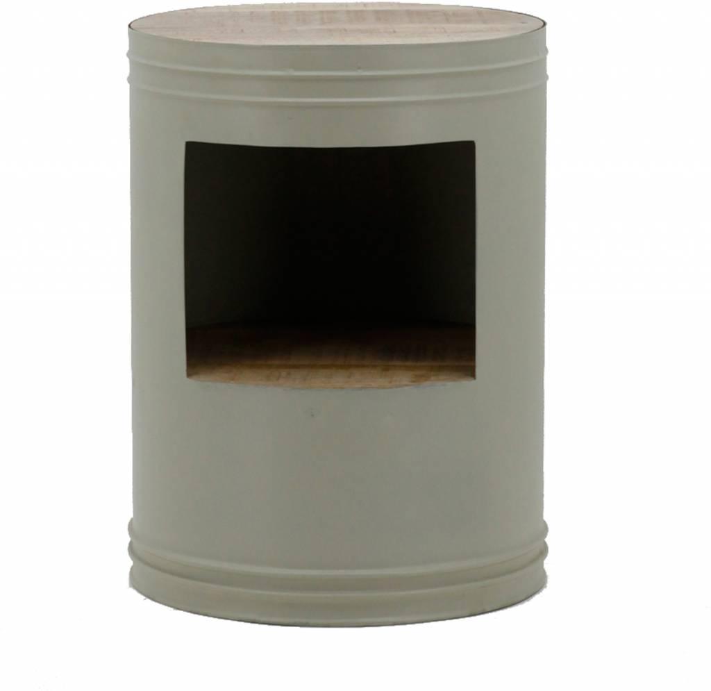 beistelltisch barrel gr n my dutch living room. Black Bedroom Furniture Sets. Home Design Ideas