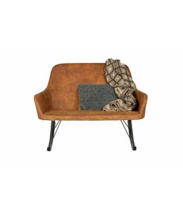 Be Pure Home Roll Rocking Sofa - Cognac