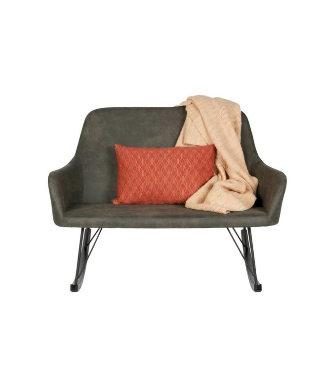 Be Pure Home Roll Rocking Sofa - Schwarz