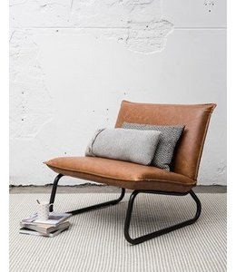 Lounge chair Yara - Cognac