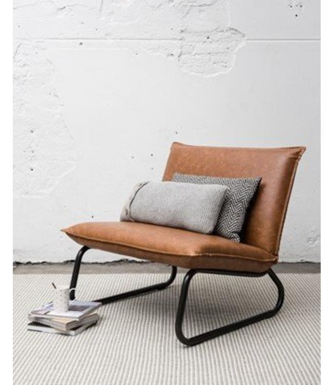 Lounge chair Yara - Cognac