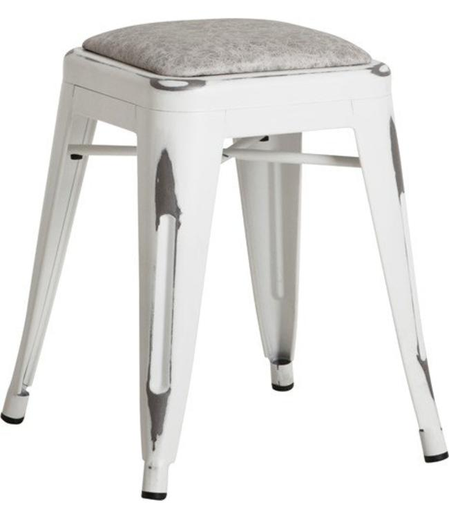 Stool White Antique