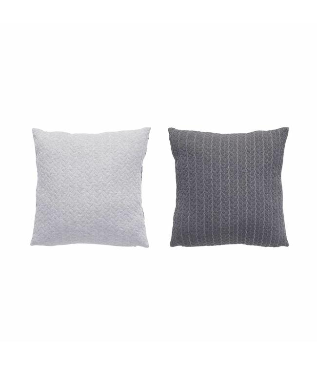 Dänisches Kissen - Doppelt Grau