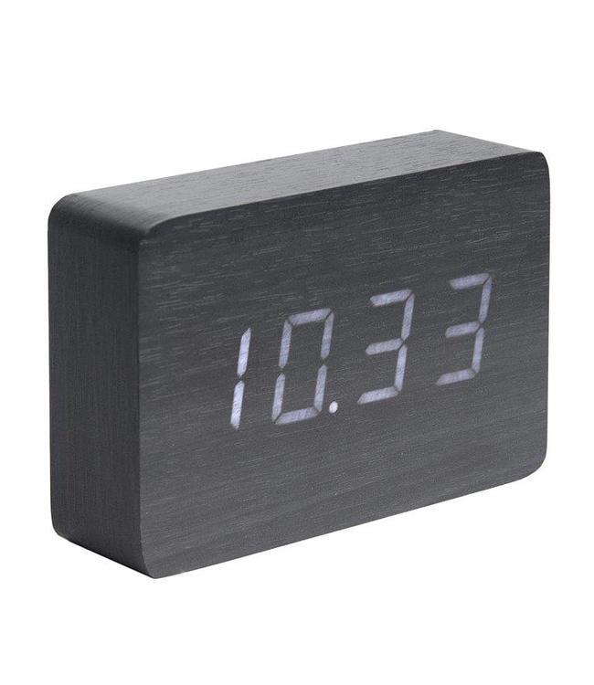 Karlsson Wecker/Uhr Wood Square Black