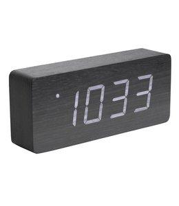 Karlsson Wecker/Uhr Wood Tube Black