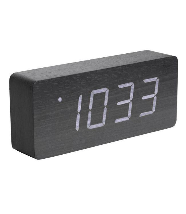 Karlsson Uhr wecker uhr wood black my living room