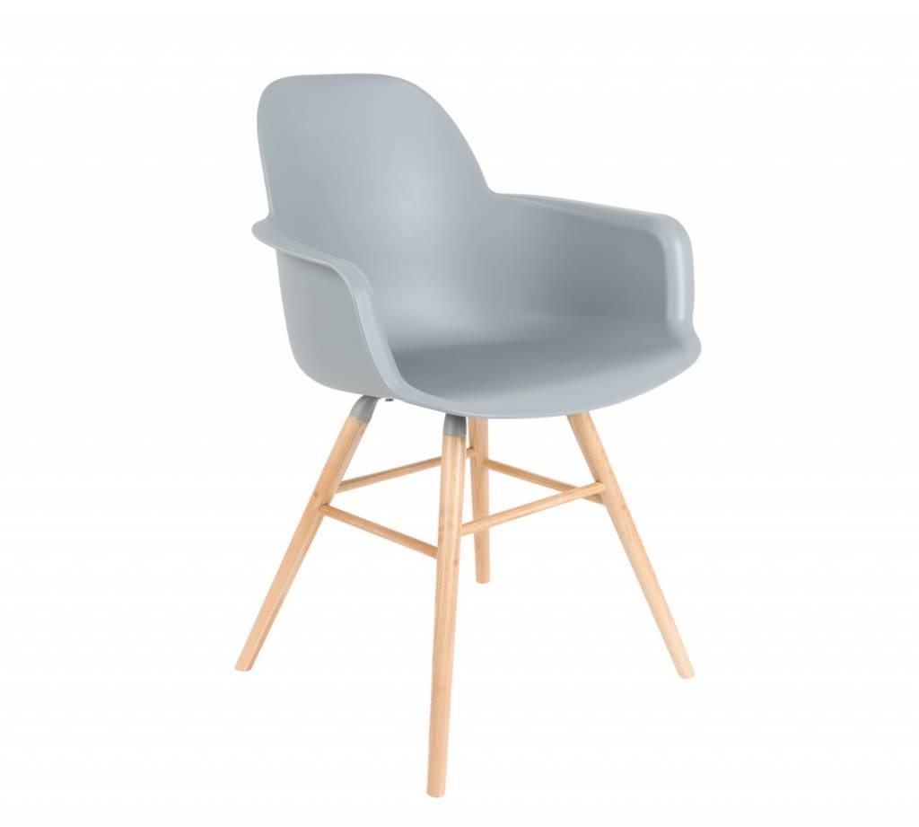 albert stuhl mit armlehne hell grau my dutch living room. Black Bedroom Furniture Sets. Home Design Ideas