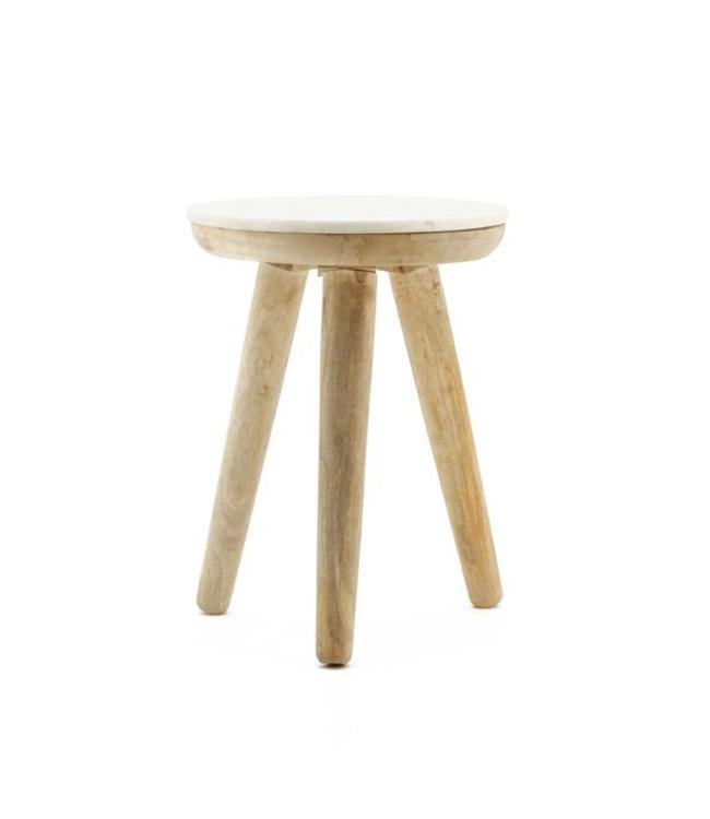 By-Boo Tisch Marmor weiß - klein