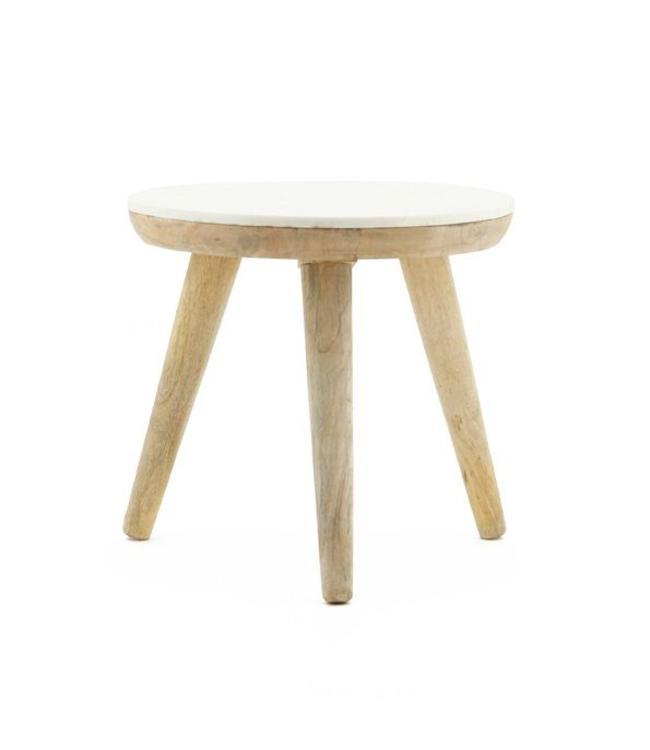 By-Boo Tisch Marmor Weiß - Medium