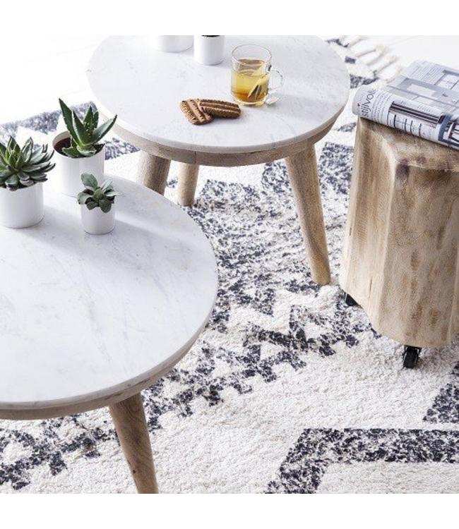 By-Boo Tisch Marmor Weiß - Groß