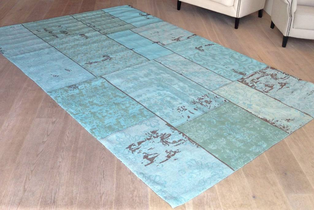 By Boo Lampen : Patchwork teppich 170 x 240 cm türkis my dutch living room