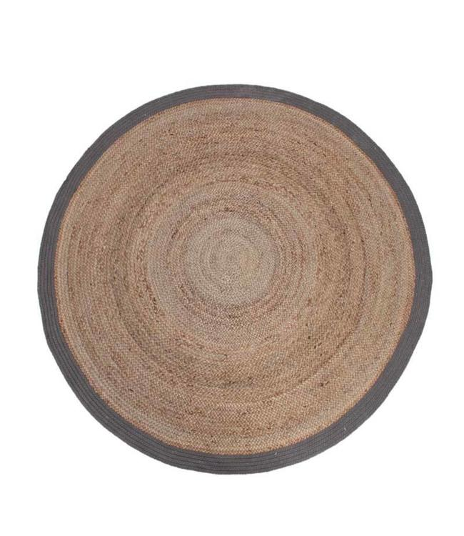 Teppich Jute Rund 180 Cm - Natur/Grau