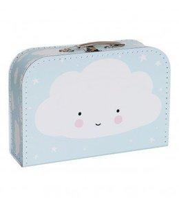 A Little Lovely Company Koffer Wolke Blau