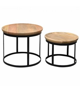 By-Boo Couchtisch Set - Holz/Metall