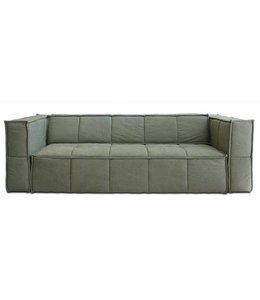 HK Living Sofa 3 Sitzer Leinen grün