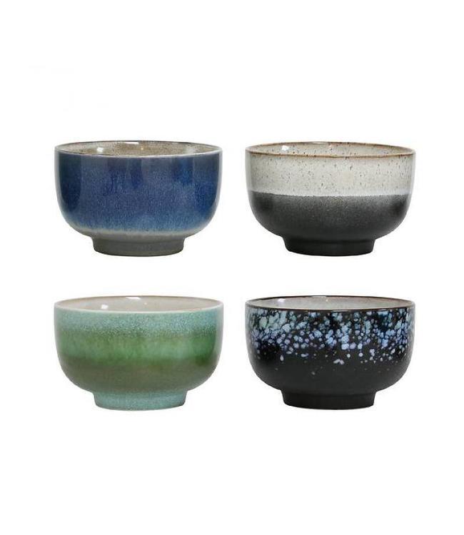 HK Living HKliving Schüsseln 70's Keramik Set von 4 - Large