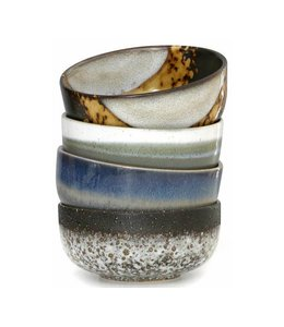 HK Living HKliving Schüsseln 70's Keramik Set von 4 - Medium