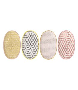 Bloomingville Susie Multi-Color Oval Teller 4er-Set