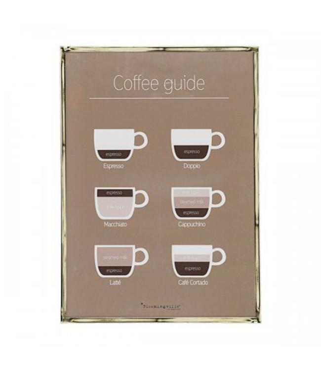 Bloomingville Rahmen Kaffee - Gold Metal
