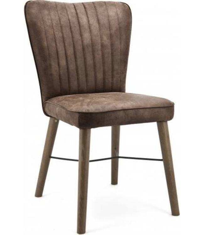 Stuhl Chiba ohne Armlehne - dunkelbraun
