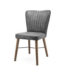 Stuhl Chiba ohne Armlehne - grau