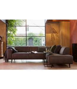 Be Pure Home Ecksofa Statement Grau - Rechts