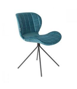Zuiver OMG Stuhl Blau Velvet
