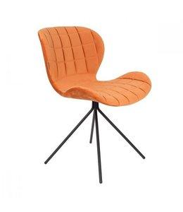Zuiver OMG Stuhl Orange Velvet