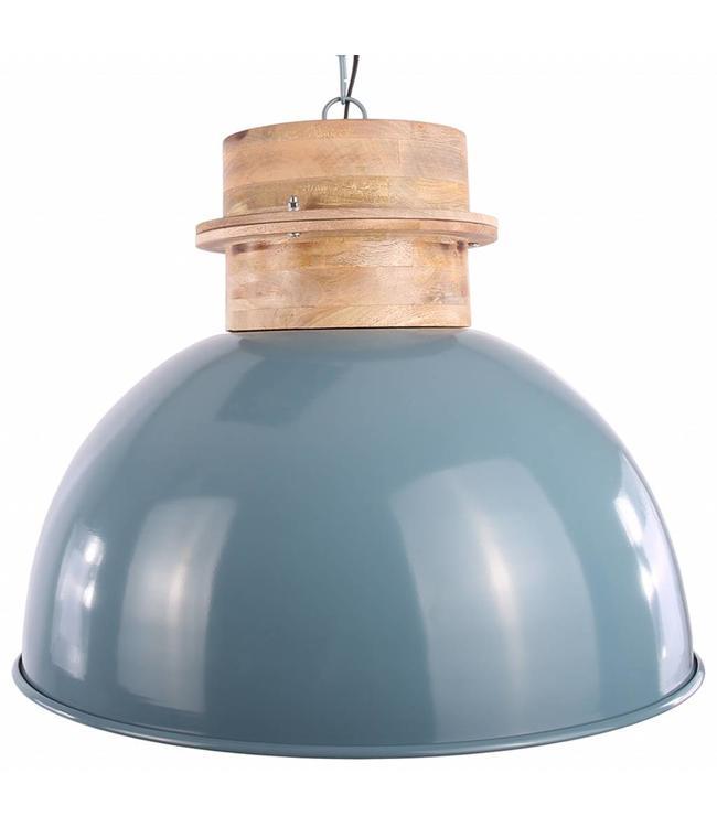 Pendelleuchte Legno 50 cm - Vintage Blau