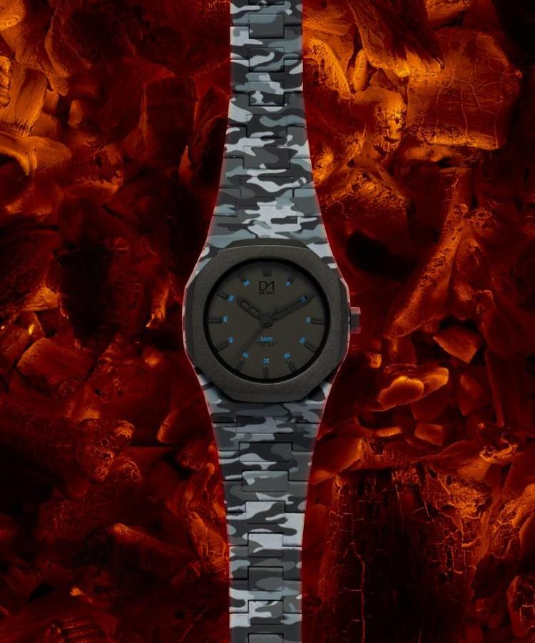 D1 MILANO D1 MILANO CAMOUFLAGE WATCH GREY